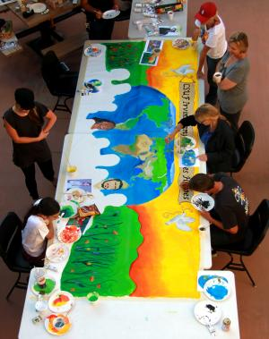 Irvine campus participates in global mural project for Art miles mural project