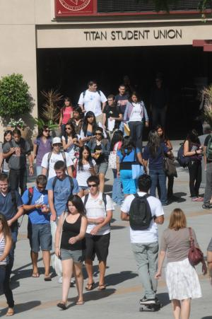 Students by the Titan Student Union