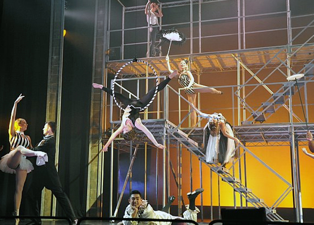 a circus dance performance choreographed by Bill Lett.