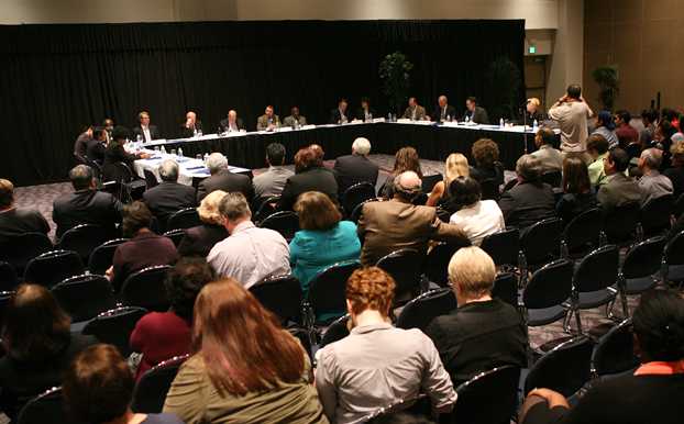 Photo of Presidential Forum held at CSUF November