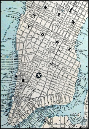 old street map of new york city at the turn of the century