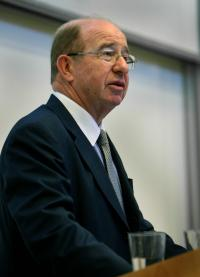 closeup of Peter Levene, chairman of Lloyds of London