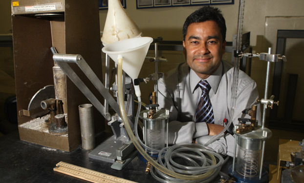 Binod Tiwari in his lab.