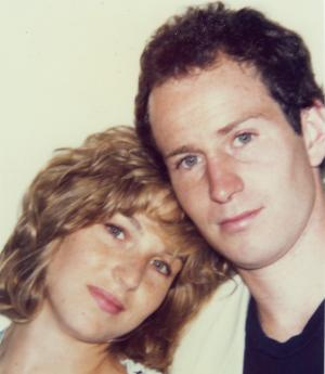 Polaroid image of Tatum O'Neal and John McEnroe.