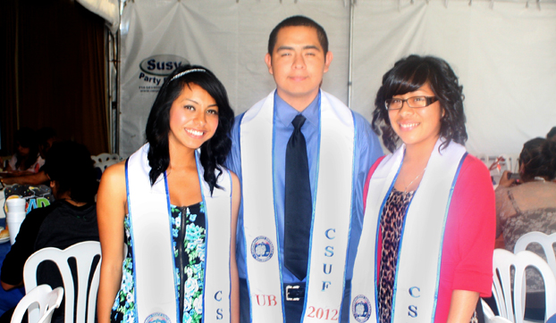 Three high school seniors, all from Upward Bound, that are headed to college.