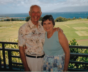 Roberta Browning and husband Lee Broadbent