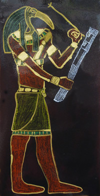 Artistic depiction of the Egyptian god Thoth