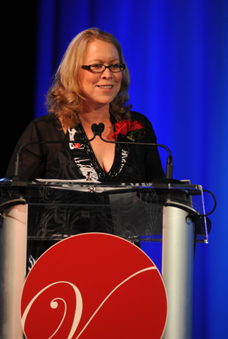 Margaret M. McCarthy speaking at podium