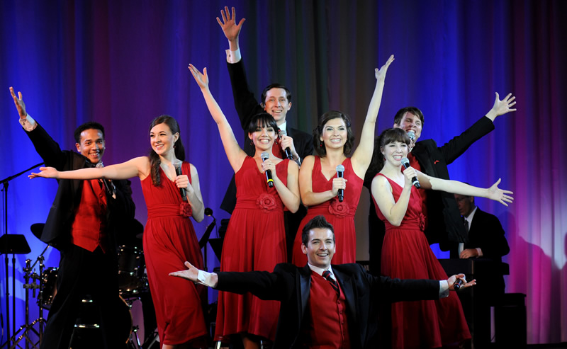 Eight Cal State Fullerton students performing musical tribute for Vision & Visionaries recipients